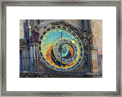 Prague Astronomical Clock Framed Print by Mariola Bitner