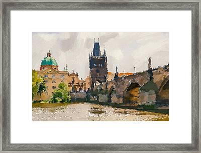 Prague Bridge 3 Framed Print by Yury Malkov