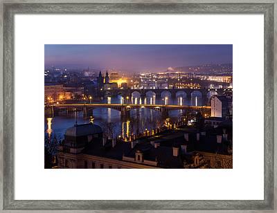 Prague Bridges Framed Print