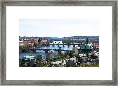 Prague Bridges Framed Print by Rui DeGouveia