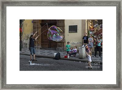 Prague Bubble Magic Framed Print