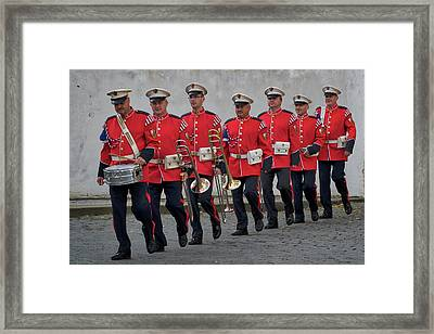 Framed Print featuring the photograph Prague Castle Guard Band by Stuart Litoff