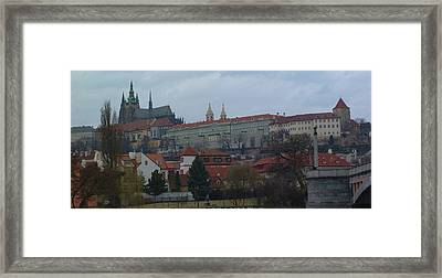 Prague Castle In Prague Czech Republic Framed Print by Paul Pobiak