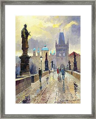 Prague Charles Bridge 02 Framed Print