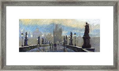 Prague Charles Bridge 06 Framed Print by Yuriy  Shevchuk