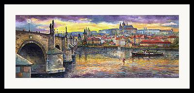 Vltava River Framed Prints