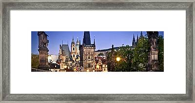 Prague Charles Bridge Czech Republic 93721 3840x1200 Framed Print