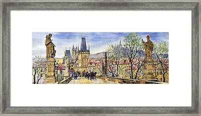 Prague Charles Bridge Spring Framed Print
