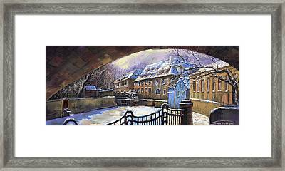 Prague Chertovka Winter 01 Framed Print by Yuriy  Shevchuk
