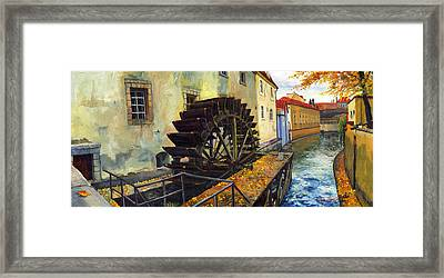Prague Chertovka Framed Print