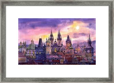 Prague City Of Hundres Spiers Variant Framed Print by Yuriy  Shevchuk