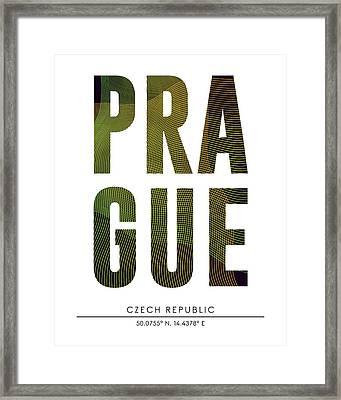 Prague City Print With Coordinates Framed Print