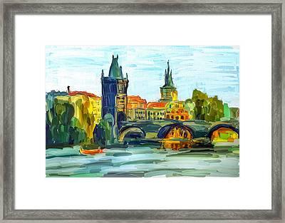 Prague City Framed Print by Yury Malkov
