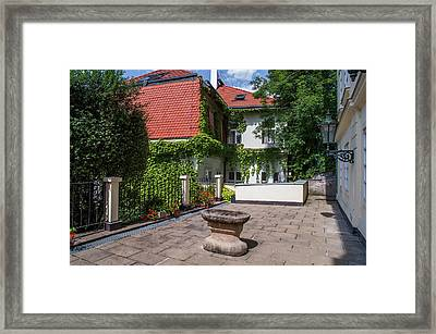 Framed Print featuring the photograph Prague Courtyards by Jenny Rainbow