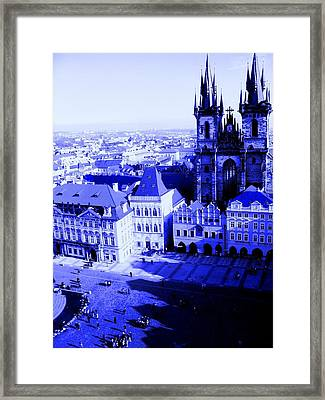 Framed Print featuring the photograph Prague Cz by Michelle Dallocchio