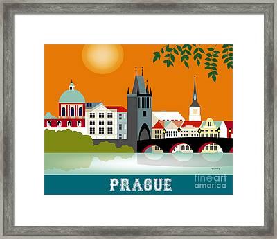 Prague Czech Republic Horizontal Scene Framed Print