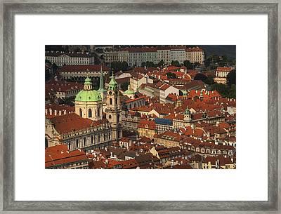 Prague From Above Framed Print