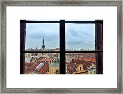 Prague From Old Town Hall Tower Framed Print by Steven Richman