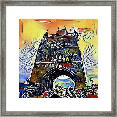 Prague Gate Framed Print