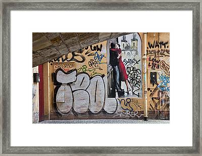 Framed Print featuring the photograph Prague Graffiti And Wall Art by Stuart Litoff