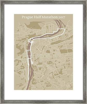 Prague Half Marathon #1 Framed Print by Big City Artwork