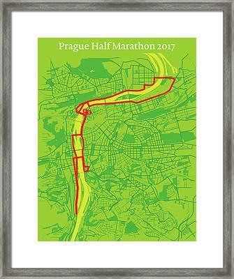 Prague Half Marathon #2 Framed Print by Big City Artwork