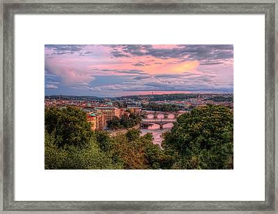 Prague In Pink Framed Print