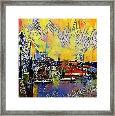 Prague Labe - My Www Vikinek-art.com Framed Print by Viktor Lebeda