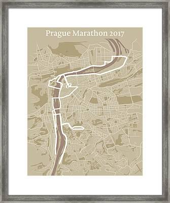 Prague Marathon #1 Framed Print by Big City Artwork