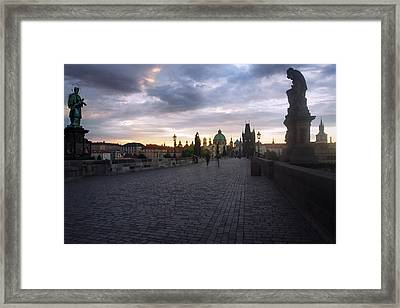 Prague Morning Framed Print