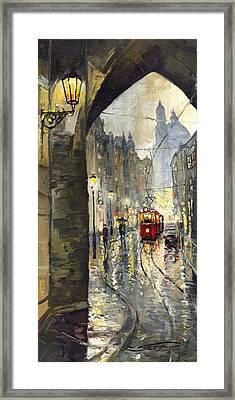 Prague Mostecka Street Framed Print by Yuriy  Shevchuk