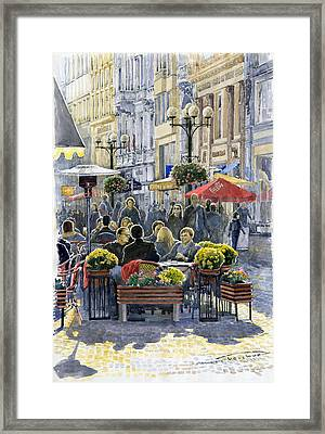 Prague Mustek First Heat Framed Print by Yuriy  Shevchuk