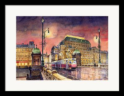 Tram Framed Prints