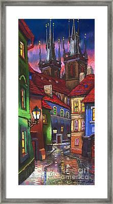 Prague Old Street 01 Framed Print