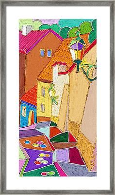 Prague Old Street Ceminska Novy Svet Framed Print by Yuriy  Shevchuk