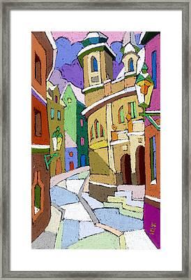 Prague Old Street Karlova Winter Framed Print by Yuriy  Shevchuk