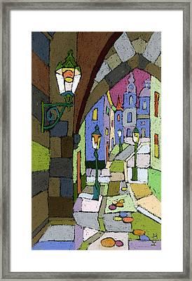 Prague Old Street Mostecka Framed Print by Yuriy  Shevchuk