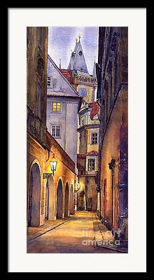 Cityscape Paintings Framed Prints