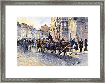 Prague Old Town Hall And Astronomical Clock Framed Print by Yuriy  Shevchuk