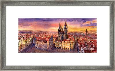 Prague Old Town Square 02 Framed Print