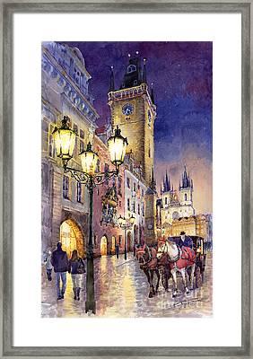 Prague Old Town Square 3 Framed Print by Yuriy  Shevchuk