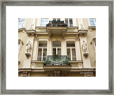 Prague Old Town Square Balcony Style Framed Print by John Rizzuto