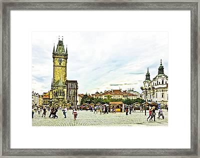 Prague Old Town Square Framed Print by Edita De Lima