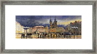Prague Old Town Squere After Rain Framed Print by Yuriy  Shevchuk