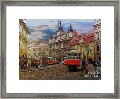 Prague, Old Town, Street Scene Framed Print