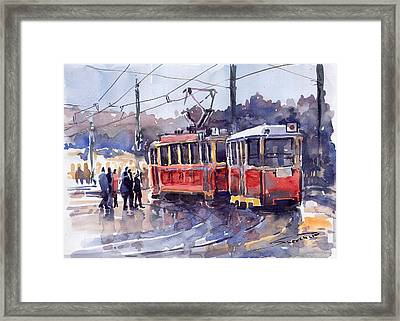 Prague Old Tram 01 Framed Print by Yuriy  Shevchuk