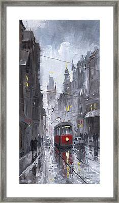 Prague Old Tram 03 Framed Print