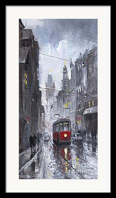 Old Tram Framed Prints