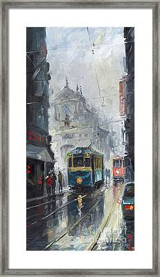 Prague Old Tram 04 Framed Print