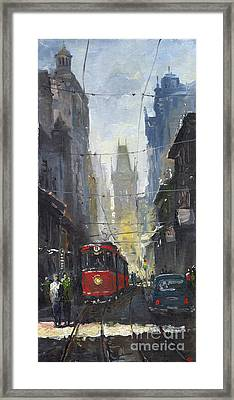 Prague Old Tram 05 Framed Print by Yuriy  Shevchuk